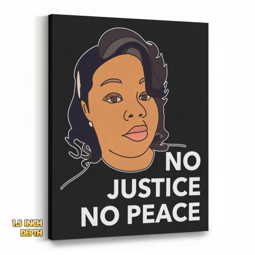 Breonna Taylor No Justice No Peace Premium Wall Canvas