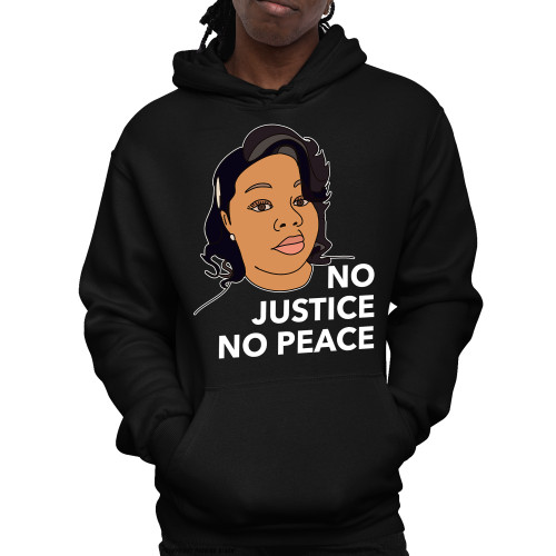 Breonna Taylor No Justice No Peace Unisex Pullover Hoodie