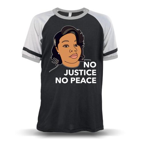 Breonna Taylor No Justice No Peace Unisex Raglan T-Shirt