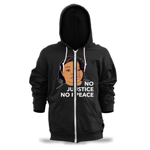 Breonna Taylor No Justice No Peace Unisex Zipper Hoodie