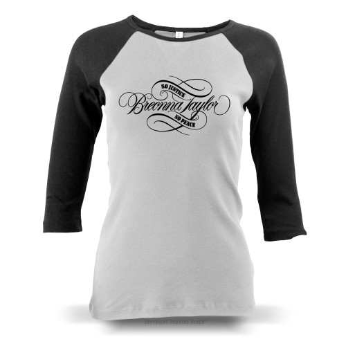 Breonna Taylor - No Justice No Peace Signature Ladies Raglan Long Sleeve