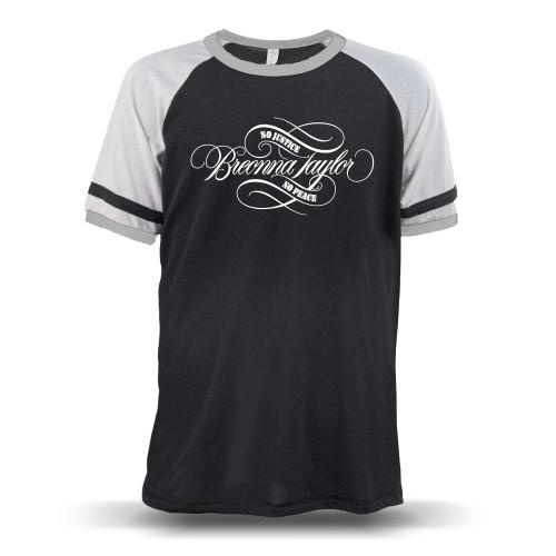 Breonna Taylor - No Justice No Peace Signature Unisex Raglan T-Shirt