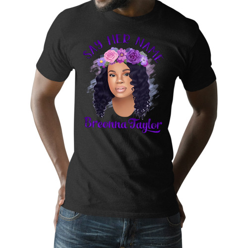Breonna Taylor with Flower Crown - Say Her Name Unisex T-Shirt