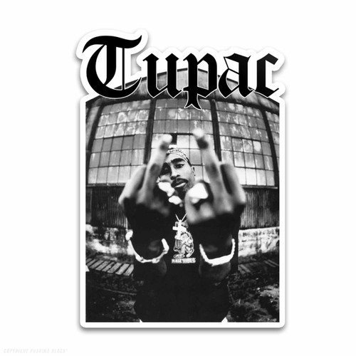 Tupac Me Against the World Weatherproof Vinyl Decal