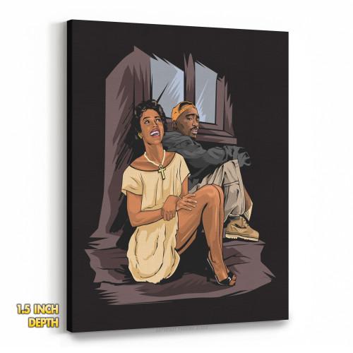 Tupac and Dorthy Dandridge Premium Wall Canvas