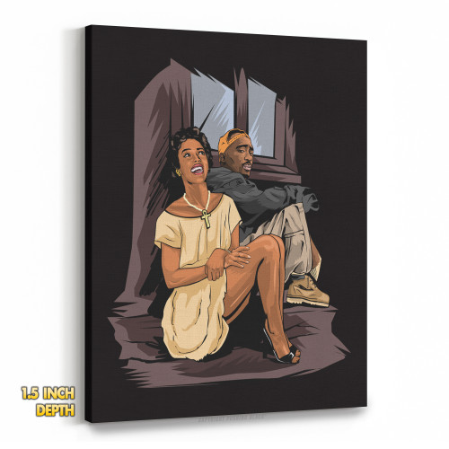 Tupac and Dorthy Dandridge Premium Wall Canvas