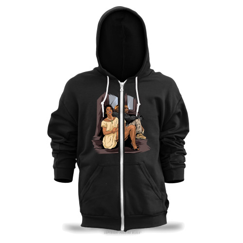 Tupac and Dorthy Dandridge Unisex Zipper Hoodie