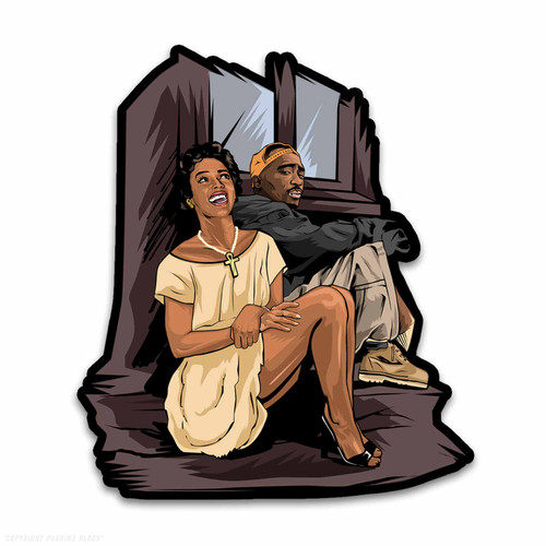 Tupac and Dorthy Dandridge Weatherproof Vinyl Decal