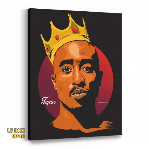 King Tupac Shakur Premium Wall Canvas