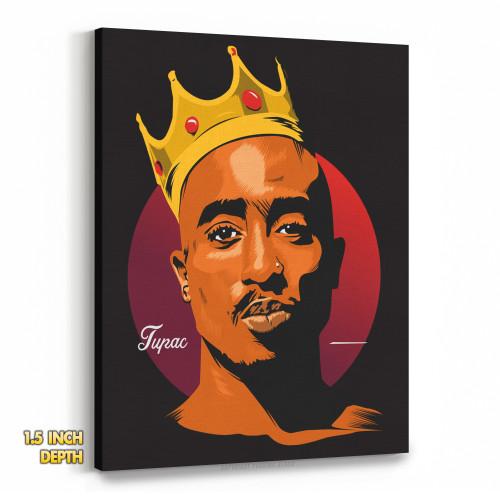 King Tupac Shakur Premium Wall Canvas