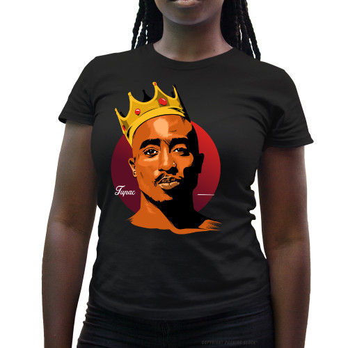 King Tupac Shakur Ladies T-Shirt