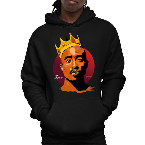 King Tupac Shakur Unisex Pullover Hoodie