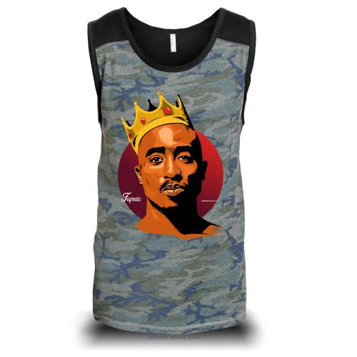 King Tupac Shakur Unisex Raglan Tank Top