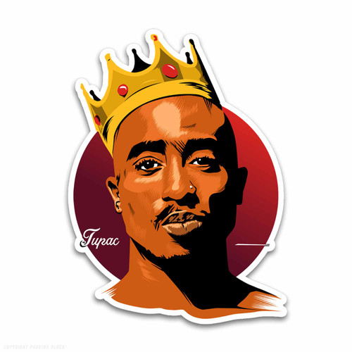 King Tupac Shakur Weatherproof Vinyl Decal