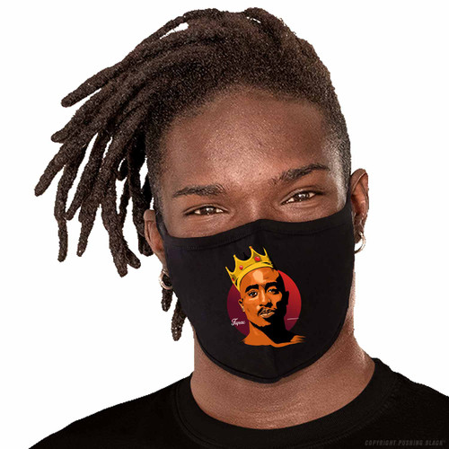 King Tupac Shakur Washable Face Mask