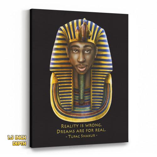 Tupac Pharaoh Detailed - Reality is Wrong Premium Wall Canvas