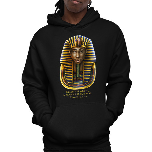 Tupac Pharaoh Detailed - Reality is Wrong Unisex Pullover Hoodie