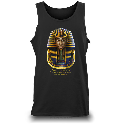 Tupac Pharaoh Detailed - Reality is Wrong Unisex Tank Top