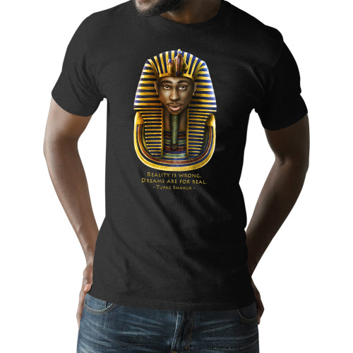 Tupac Pharaoh Detailed - Reality is Wrong Unisex T-Shirt