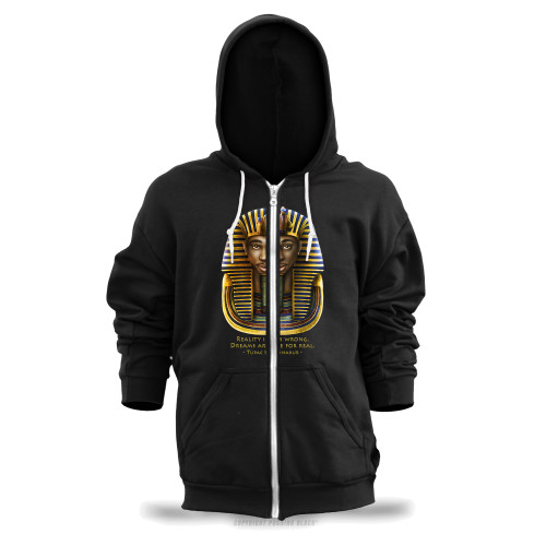 Tupac Pharaoh Detailed - Reality is Wrong Unisex Zipper Hoodie