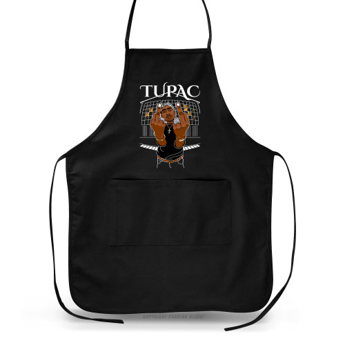 Tupac Middle Finger Up Apron