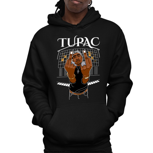 Tupac Middle Finger Up Unisex Pullover Hoodie
