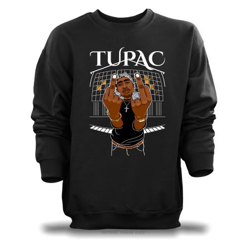 Tupac Middle Finger Up Unisex Sweatshirt