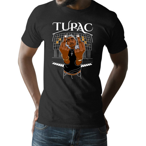 Tupac Middle Finger Up Unisex T-Shirt