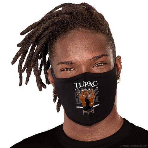 Tupac Middle Finger Up Washable Face Mask