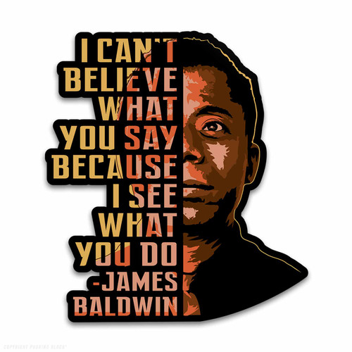 James Baldwin - I Can't Believe What You Say Weatherproof Vinyl Decal