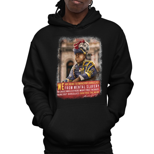 Marcus Garvey - Emancipate Ourselves from Mental Slavery Unisex Pullover Hoodie