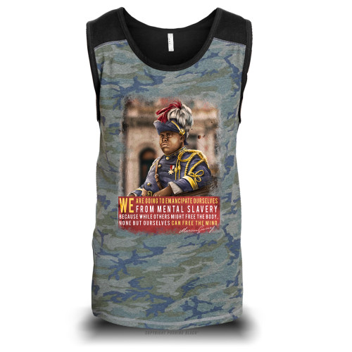 Marcus Garvey - Emancipate Ourselves from Mental Slavery Unisex Raglan Tank Top