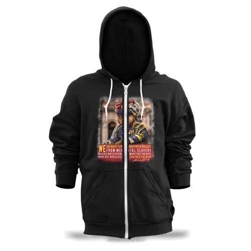 Marcus Garvey - Emancipate Ourselves from Mental Slavery Unisex Zipper Hoodie