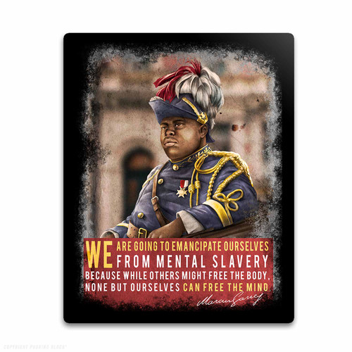 Marcus Garvey - Emancipate Ourselves from Mental Slavery Weatherproof Vinyl Decal