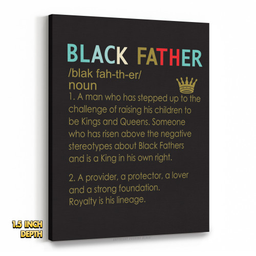 The Definition of a Black Father Premium Wall Canvas