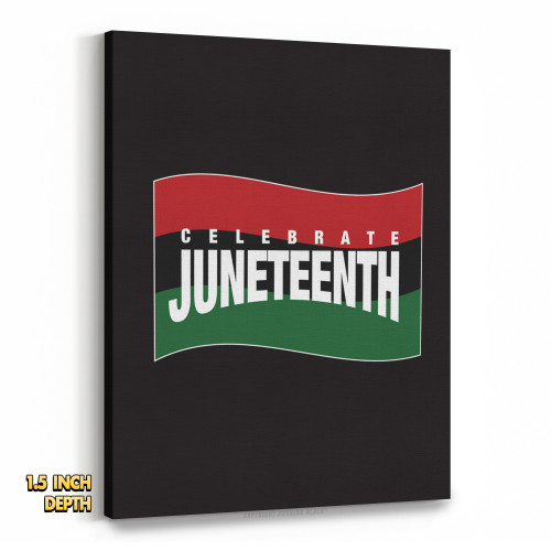 Juneteenth Pan-African Flag Premium Wall Canvas