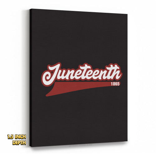 Juneteenth 1865 Premium Wall Canvas