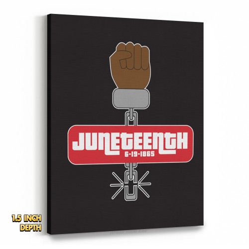 Juneteenth - Black Freedom Premium Wall Canvas