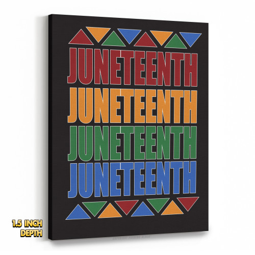 Juneteenth, Juneteenth, Juneteenth Premium Wall Canvas