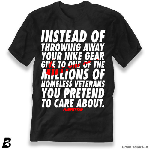 'Colin Kaepernick - Instead of Throwing Away Your Nike Gear' Premium Unisex T-Shirt