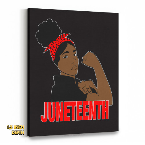 Juneteenth Freedom Fighter Premium Wall Canvas