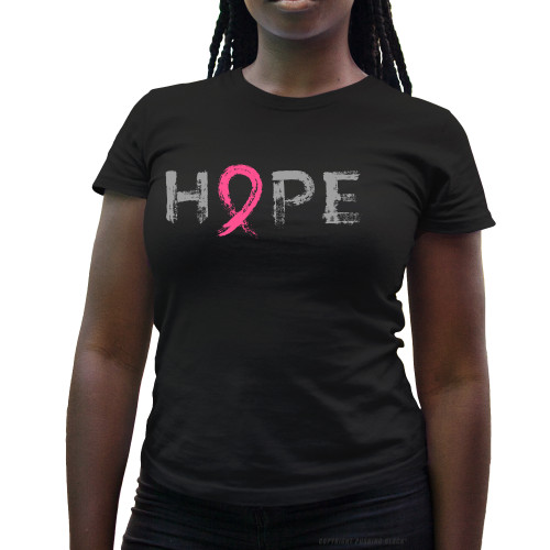 """Hope"" - Breast Cancer Awareness  Ladies T-Shirt"