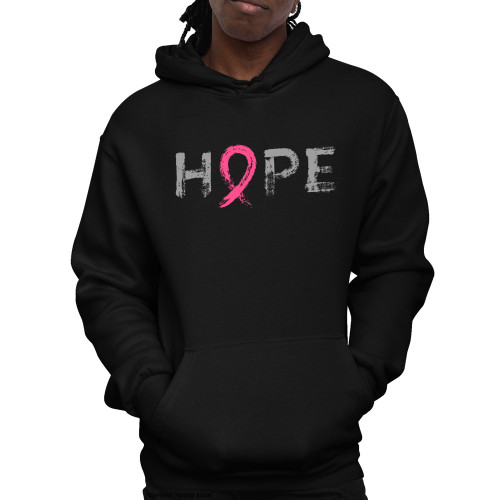 """Hope"" - Breast Cancer Awareness  Unisex Pullover Hoodie"