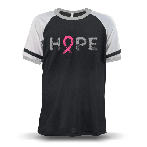 """Hope"" - Breast Cancer Awareness  Unisex Raglan T-Shirt"