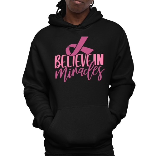 Breast Cancer Awareness - Believe In Miracles Unisex Pullover Hoodie