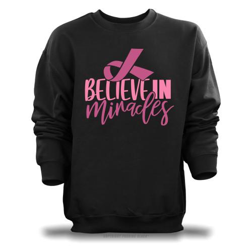 Breast Cancer Awareness - Believe In Miracles Unisex Sweatshirt
