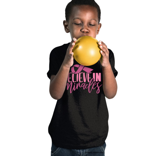 Breast Cancer Awareness - Believe In Miracles Youth T-Shirt