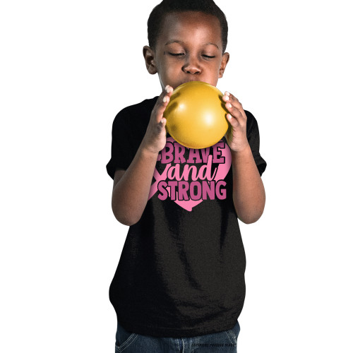 Breast Cancer Awareness - Brave and Strong Youth T-Shirt