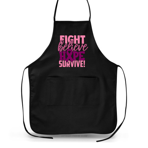 Breast Cancer Awareness - Fight Believe Hope Survive Apron