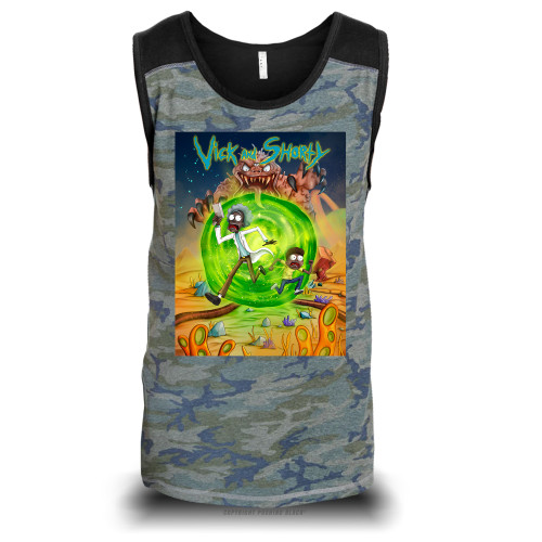 Vick and Shorty Adventure Unisex Raglan Tank Top